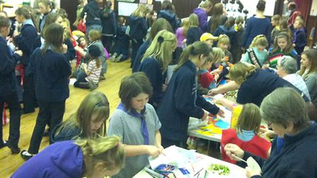 GIRLGUIDING MARCH DISTRICT CELEBRATE WORLD THINKING DAY 2013