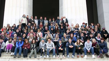 Cromwell Community College students and staff in New York City.