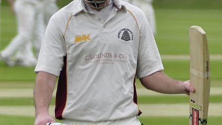 Steve Seymour is applauded off the pitch after making a century in his first game back for March las