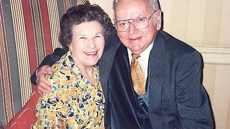 Una Crown, 86, with her late husband Jack.