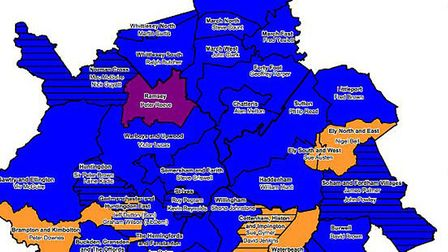 Cambs Election map