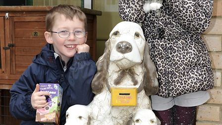 RSPCA, Block Fen Animal Centre, Easter fun days. Joseph and Ruby Carman with the prizes they had won