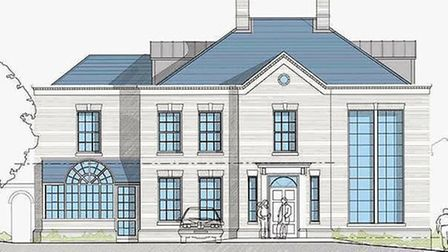 The plans for a seven bedroom Georgian home