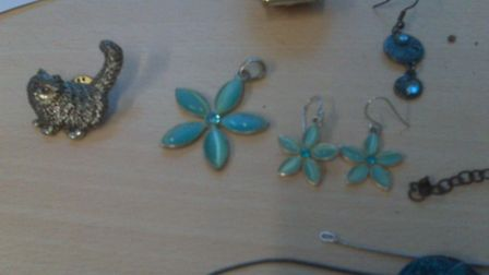 Some of the recovered jewellery