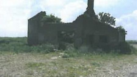 The back of the derelict cottage