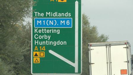 A14 signs