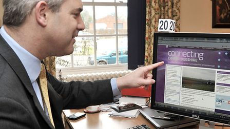 MP Steve Barclay with the Connecting Cambridgeshire website.