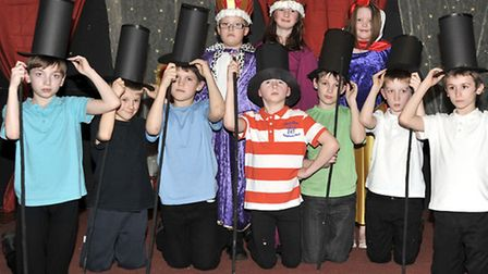 Westwood Junior School March.Year 5 production dress rehearsal of an alternative Snow White and the