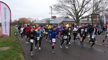 The competitors leave Witchford Village College