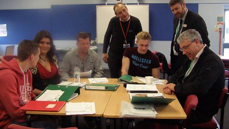 College of West Anglia students learn about the construction industry