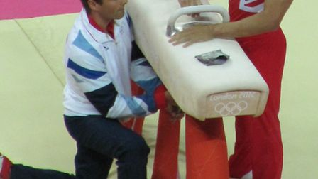 Louis Smith and his coach