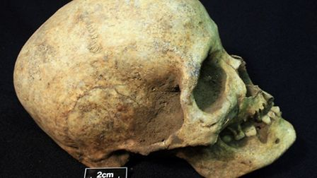 The body of the Bronze Age man discovered in Soham
