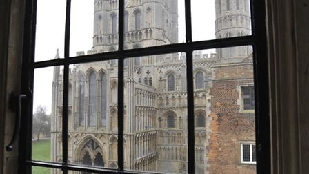 VIEW of Ely Cathedral from The Old Palace, Kings School, Ely