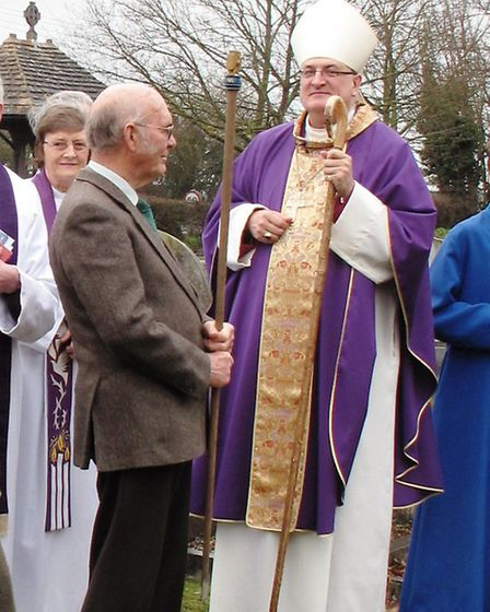 The Bishop of Ely visits St Mary's, Westry, to celebrate the church's rebuilding