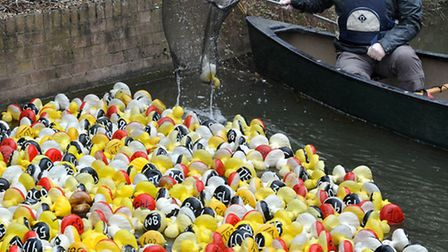 Whittlesey Mayor's charity duck race.