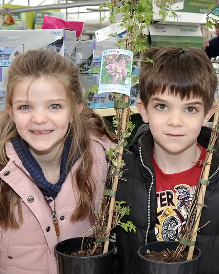 Oak garden centre Chatteris, The Great Easter Market. Charlotte and Harry Blades.