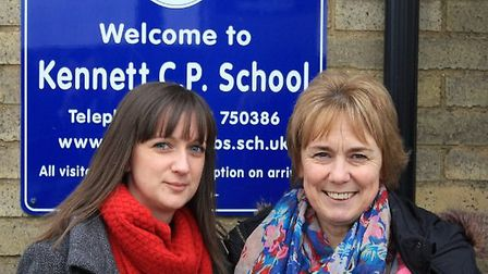 Lisa Gregory new head of Kennett Primary School and The Shade Primary School with Sheila Taylor, dep