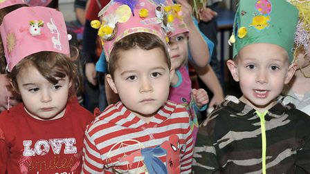 Cavalry Nursery, March. The children in Cavalry Nursery are held their Easter Bonnet Parade. Picture