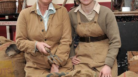 MARCH into the 1940'S. Land Girls, Jo Langham and Sophie Penny.