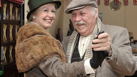 MARCH into the 1940'S. Philomena and Ivor Knight dancing.