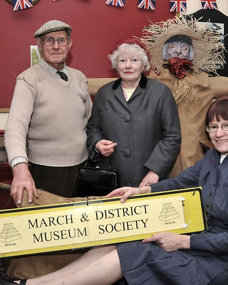 MARCH into the 1940'S. Alec Wright, Christine Churchill and Maureen Wright from March museum.