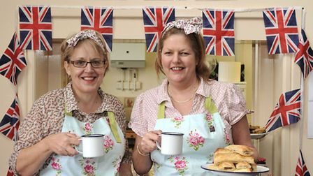 MARCH into the 1940'S. Carol Palmby and Bev Everett from C&B Catering.