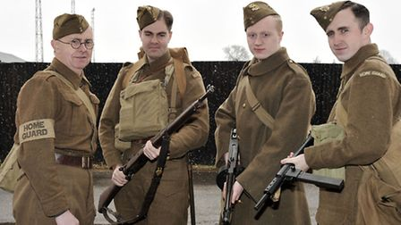 MARCH into the 1940'S. Home Guard group,