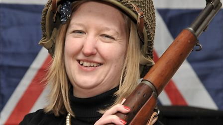 MARCH into the 1940'S. The organiser of the event Donna Symonds poses for the camera.