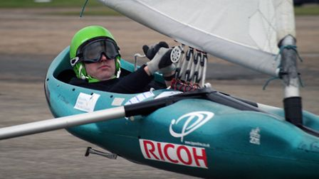 Rhys Davies in action at the fourth round of the Landyachting British Championships