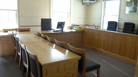 Inside Ely Magistrates' Court