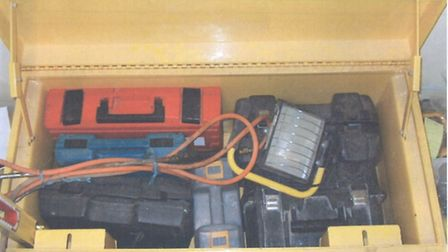 Some of the tools recovered by officers