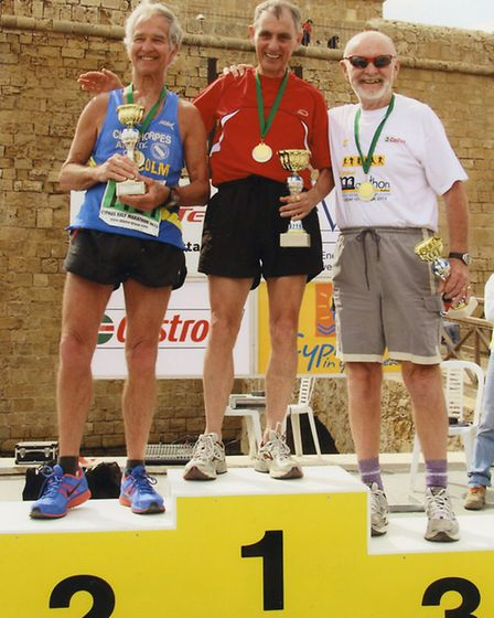 Pat Brown Ran a half marathon in Cyprus and came 3rd in the over 70s.
