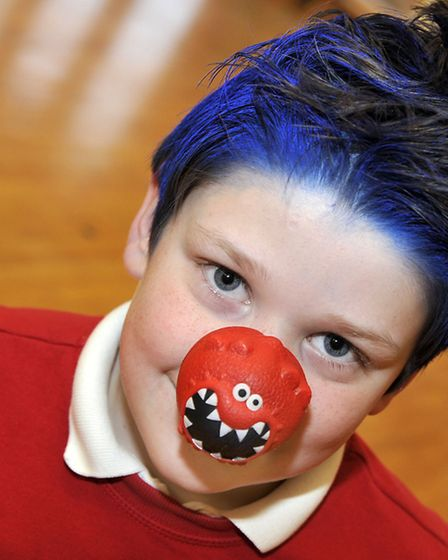 Glebelands School, Chatteris. Staff and pupils had bad hair day for Red Nose day. Picture: Steve Wil