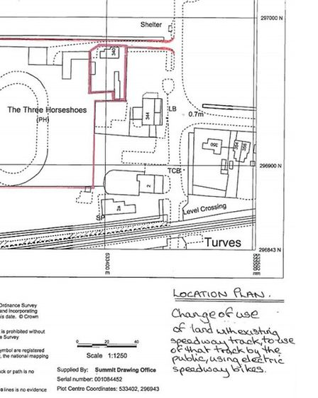 The plans for Mr Green's electric speedway academy