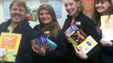 Anglia Co-operative travel branch Easter egg appeal