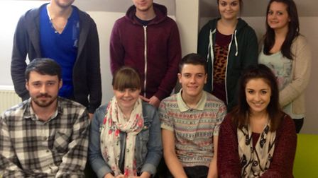 Some of the apprentices at Commercial Utility Brokers (UK) Ltd