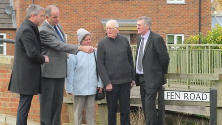 Photograph from left to right: Steve Barclay MP, David Broker, Grace Bellamy, Cyril Bellamy, Will S