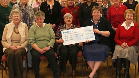 A cheque for £1420.00 was presented to Sister Becky Wilding from Upwell Health Centre for Palliative