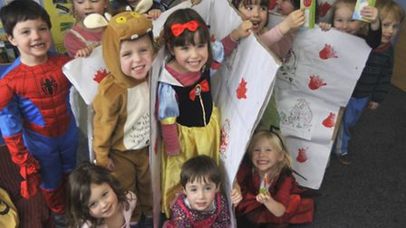 Rainbow Day Nursery, Ely, take part in book week by making a Gruffalo book