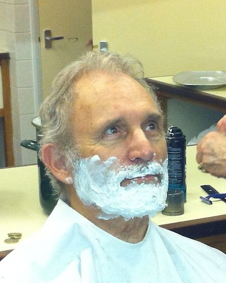 Vic Reeves, who played Mr Browlow in the Dunmow Players production of Oliver! had his beard shaved t