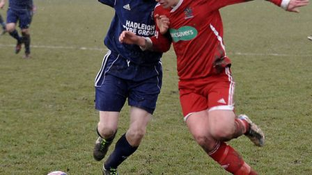 Wisbech vs Hadleigh football. Picture: Steve Williams.