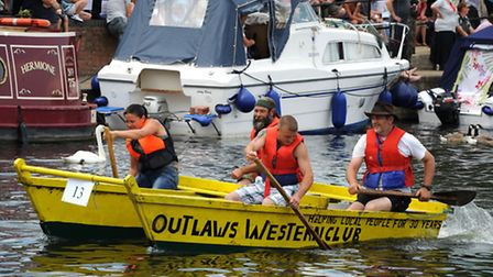 The Outlaws raft in 2011.