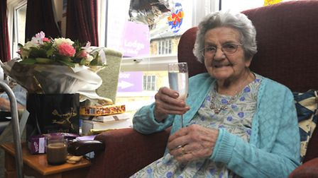 At Laburnham Lodge, Littleport is 101 year old Mary Oakey