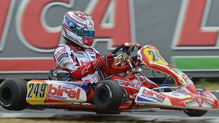 George Russell in action at the WSK Euro Series