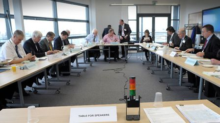 Cambridgeshire County Council Cabinet meeting held at the Boathouse in Wisbech