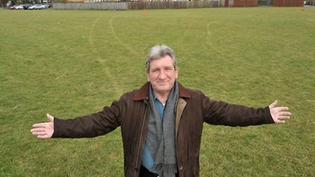 Cllr Peter Tunleyphotographed at the play area in Dagless Way March. He was critical of Cllr Owen