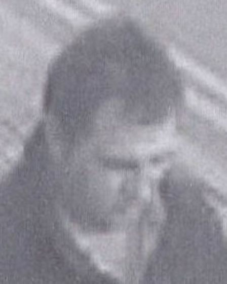 The man police would like to speak to in connection with a theft at Tesco in Ely