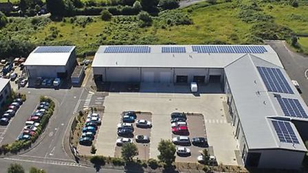 An aerial view of the Foster Property Maintenance headquarters in Wisbech
