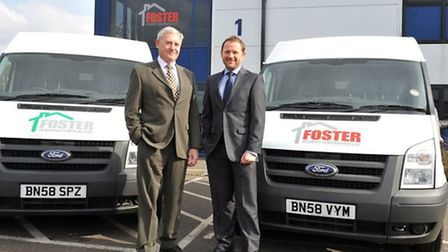 John and Steve Foster from Foster Property Maintenance outside the firm's Wisbech headquarters