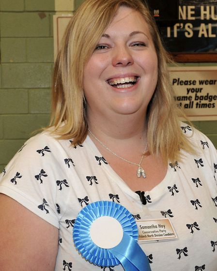 Cambridgeshire County Council election count at the Hudson Leisure Centre, Wisbech. Cllr Samantha Ho